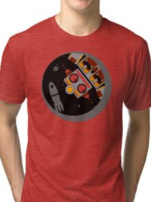 Robot Lost In Space Tri-blend T-Shirt