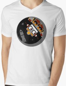 Robot Lost In Space Mens V-Neck T-Shirt