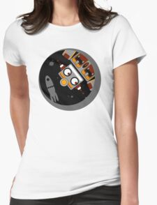Robot Lost In Space Womens Fitted T-Shirt