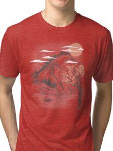 behind the mountain Tri-blend T-Shirt
