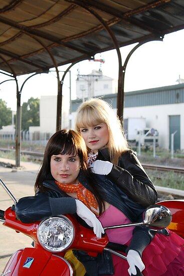 Vespa girls by Monique Basson