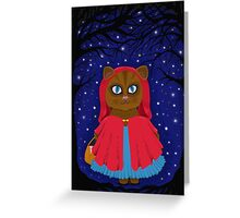 she followed the stars  Greeting Card