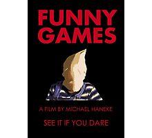 Funny Games Bag Boy Photographic Print