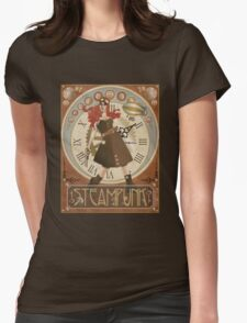 Lady Steampunk in art nouveau style Womens Fitted T-Shirt