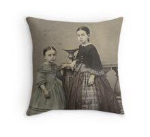 Victorian Sisters Throw Pillow