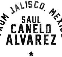 Saul 'Canelo' Alvarez - Letterpress by liam175