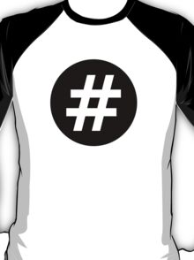 Hash Round Icon T-Shirt