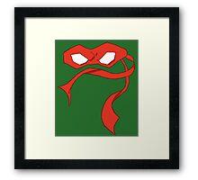 Raph Mask Framed Print