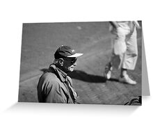 Man With Cap Greeting Card