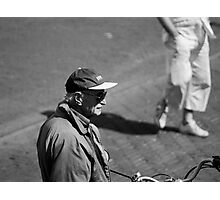 Man With Cap Photographic Print