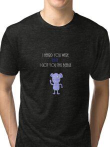 Beebles (white text) Tri-blend T-Shirt