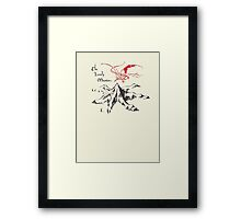Lonely Mountain, Smaug, The Hobbit, LOTR Framed Print