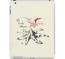 Lonely Mountain, Smaug, The Hobbit, LOTR iPad Case/Skin