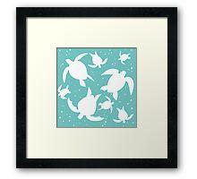 Turtles! Framed Print