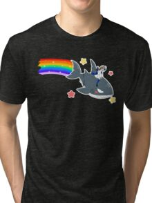 Wadanohara and the Great Blue Sea - Wadanohara and Samekichi riding the Rainbow Tri-blend T-Shirt