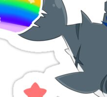 Wadanohara and the Great Blue Sea - Wadanohara and Samekichi riding the Rainbow Sticker