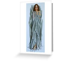"""Material Girl"" Greeting Card"