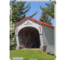 White Covered Bridge with Red Roof iPad Case/Skin