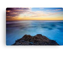 Sunsets Over The Beach Canvas Print