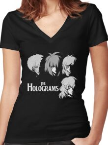 The holograms Women's Fitted V-Neck T-Shirt