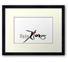 fate zero stay night anime shirt Framed Print