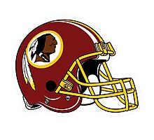 washington redskins helmet logo Photographic Print