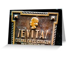 Evita Eva Peron Greeting Card