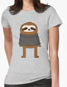 Simple Sloth Steve Womens Fitted T-Shirt