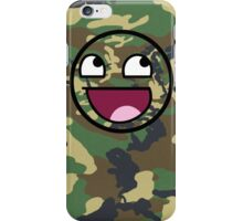 Awesome Camouflage MEME Face - Camo texture iPhone Case/Skin