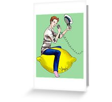 The Travelling Captain Greeting Card
