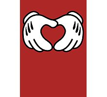 Hands Heart #DopeMouse Photographic Print