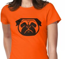 { pug - black and white - smooshface united } Womens Fitted T-Shirt