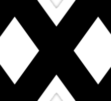 XXX Solid [Black Ink] Sticker