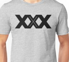 XXX Single Inline [Black Ink] Unisex T-Shirt