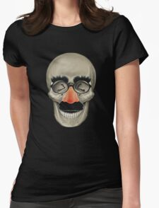 Died Laughing - Skull Womens Fitted T-Shirt