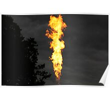 Hot Air Balloon Flame Poster