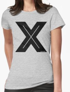 X Inline [Black Ink] Womens Fitted T-Shirt