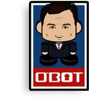 Chris Christie Politico'bot Toy Robot 2.0 Canvas Print