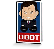 Chris Christie Politico'bot Toy Robot 2.0 Greeting Card