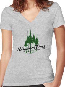 Wayward Pines Women's Fitted V-Neck T-Shirt