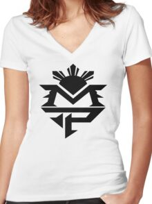 Manny 5 Women's Fitted V-Neck T-Shirt