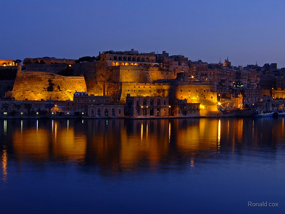 Valletta Reflections by Ronald cox