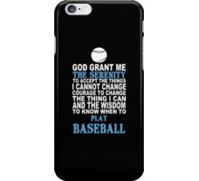 Funny Baseball Tshirts iPhone Case/Skin