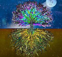 Tree of Life Moonlit Heart by treeoflifeshop