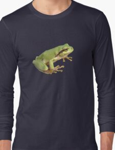 European Tree Frog Isolated Long Sleeve T-Shirt