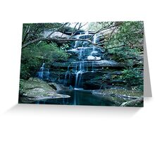 Tranquil Water Fall Greeting Card