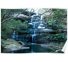 Tranquil Water Fall Poster