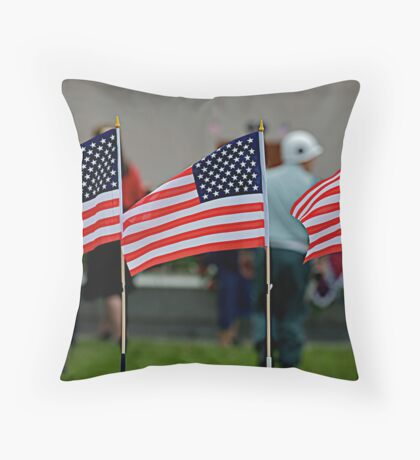 Broad Stripes and Bright Stars Throw Pillow