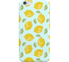 Watercolor Lemons and Leaves iPhone Case/Skin