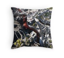 Red Brush Throw Pillow